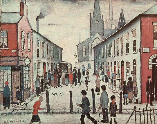Laurence Stephen Lowry (1887-1976) 'Fever Van' 41 x 51cm.