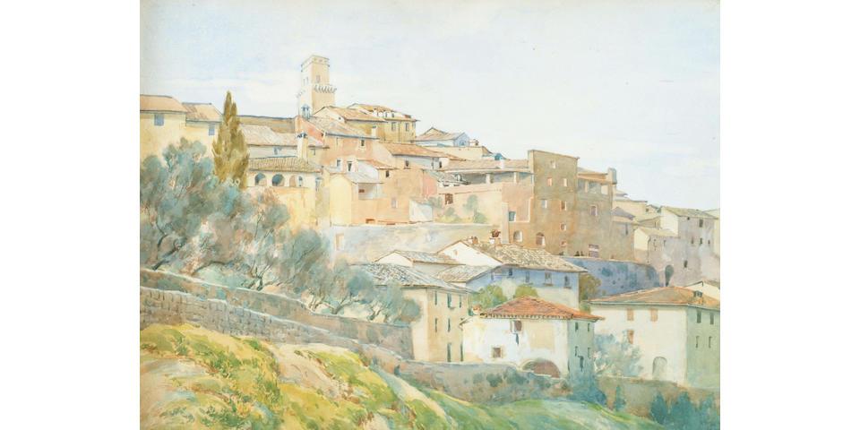 Henry Holiday (1839-1927) 'S Gimignano, Siena' 26 x 34cm