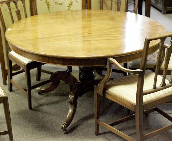 A mid 19th century mahogany breakfast table