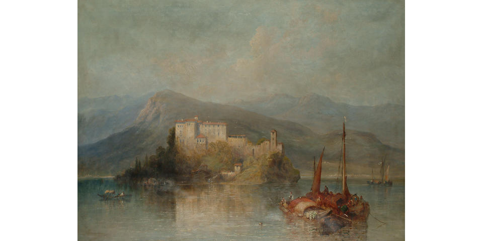 J. Vivian A scene in the Italian Lakes, 92 x 124cm (36 1/4 x 46 3/4in)