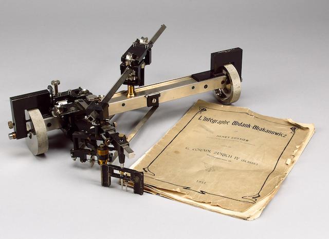 A rare Abdank-Abakanowicz Intergraph, Swiss, circa 1911,