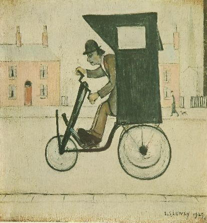 Laurence Stephen Lowry (1887-1976) 'The Contraption' 31.5 x 29cm and 25 x 16cm. (2)