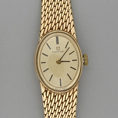 Omega.  A lady's 9 carat gold cased wristwatchHallmarked London 1969