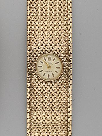 Rolex.  A lady's 9 carat gold wristwatchBirmingham 1966