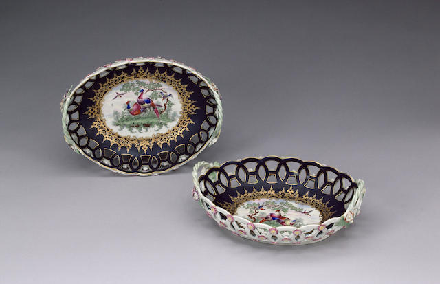 Pair Wrocs oval baskets