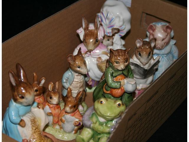 Beatrix Potter Nine Beswick Beatrix Potter figures