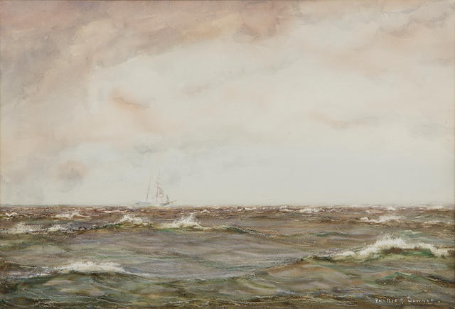 Patrick Downie RSW (1854-1945) On the Clyde 36 x 53cm (14 x 21ins)