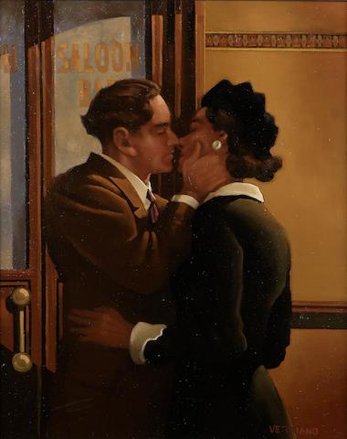 "Jack Vettriano OBE HonLLD (b1951) ""Ae Fond Kiss"" 76 x 61cm (30 x 24ins)"