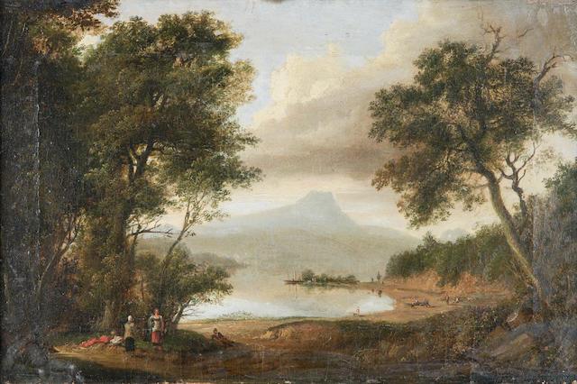 """Patrick Nasmyth (1787-1831) """"Loch Ard with Ben Lommond (sic) N.E. side"""" 31 x 46cm (12 x 18ins)"""