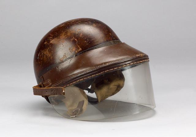 A Herbert Johnson racing helmet,