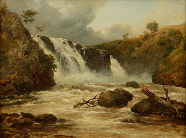 Edmund Gill (1820-1894) The Falls of Clyde 30 x 40cm (12 x 16ins)
