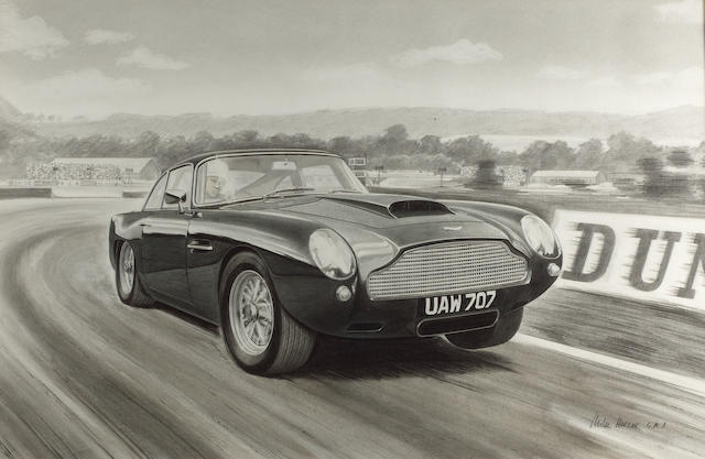Mike Harbar, 'Aston Martin DP2155' at Goodwood,