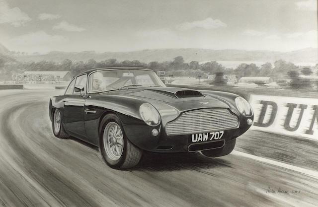 Mike Harbar, 'Aston Martin DP2155' at Goodwood,