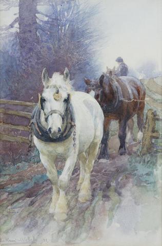 Lucy Kemp-Welch RI ROI RBA RBS (1869-1958) 23.5 x 15.5cm (9 1/4 x 6ins)
