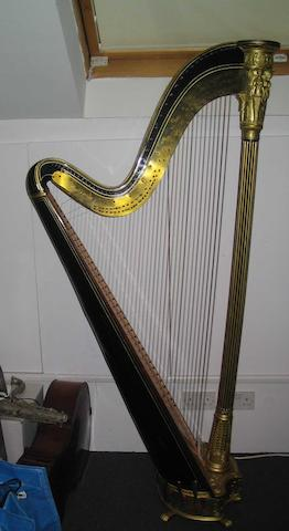 A good Grecian Harp by Sebastian Errard Sebastian Erards Patent no 2648 18 Marlborough Street, London and on the reverse Maker to the Royal family, his most Christian majesty the King of France and H.J.M the Emperor of all Russias