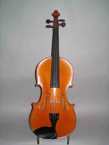 A good French Violin  by J.T.L. Mirecourt, circa 1900