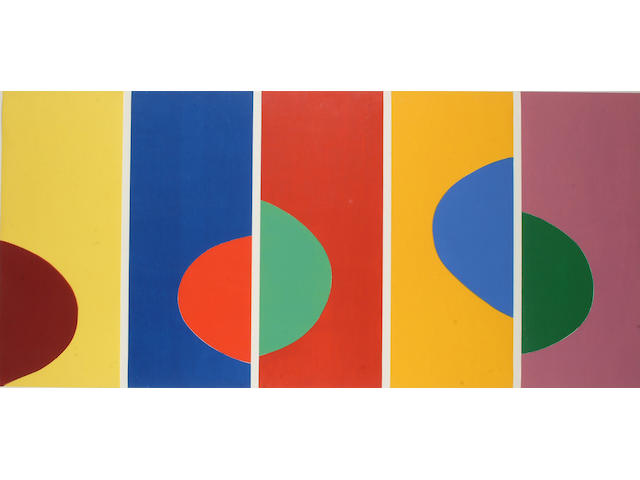 Terry Frost (British, 1915-2003) Madron Woodcuts (Half Moons) each sheet 84 x 34cm (33 x 13 1/4in), in two frames