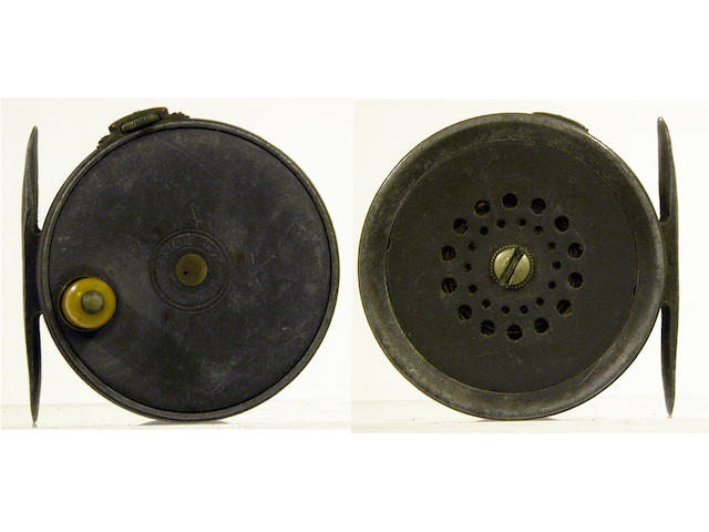 A Hardy The 'Perfect' wide drum alloy trout fly reel 2 5/8in