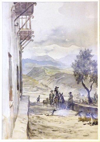 Sir Muirhead Bone HRSA HRWS HARIBA HRE LLB DLitt (1876-1953) On the edge of the Sierra Nevada 28 x 20cm (11 x 8ins)