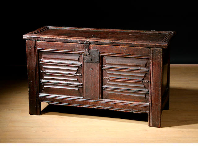 18th c oak coffer