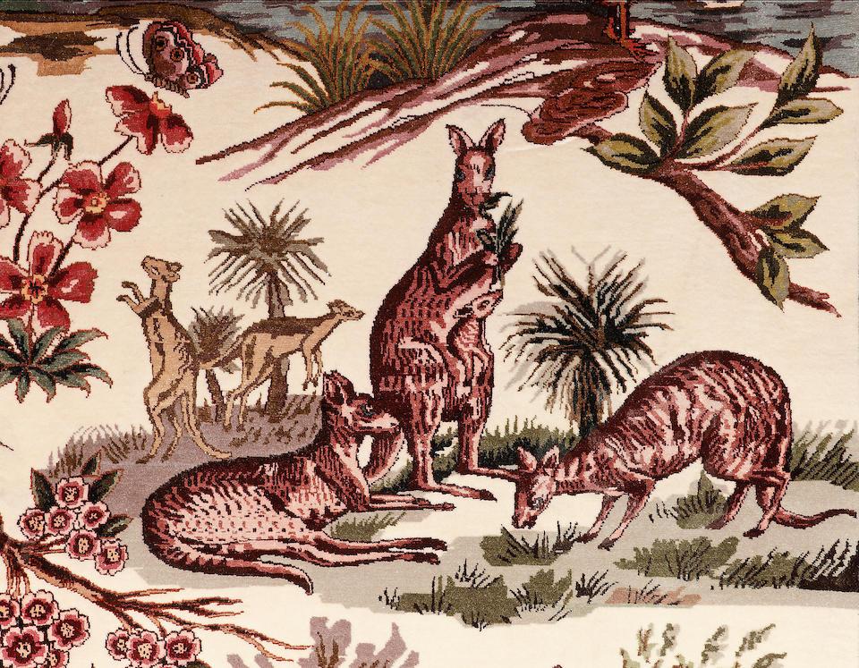 A part silk Tabriz rug North West Persia, 251cm x 153cm signed