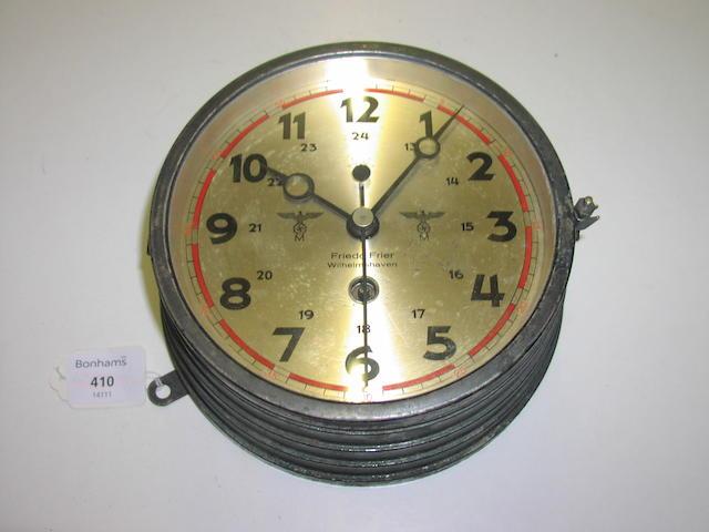 A Kriegsmarine bulkhead clock