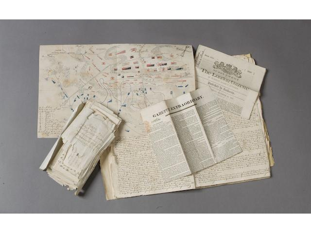 An Important collection of contemporary papers relating to the Dawson family