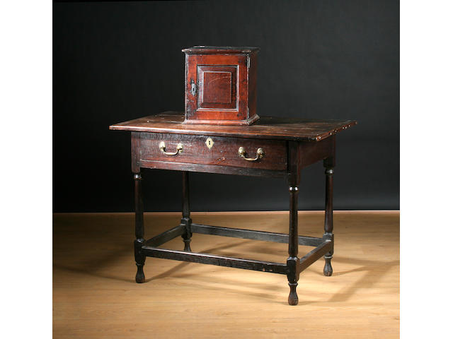 Mid 18th century oak side table