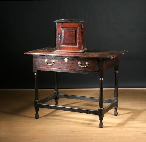 An early 18th Century oak side table