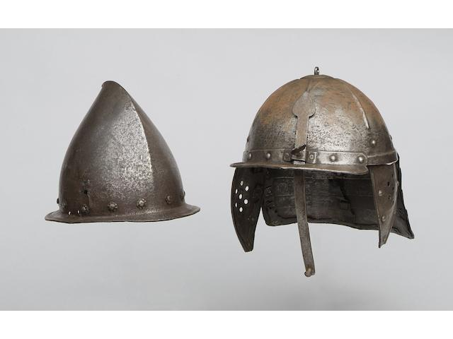 A Lobster tailed helmet