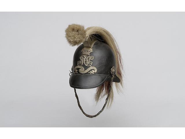 A 1st Huntingdon Light Horse Volunteers (Duke of Manchesters) trooper's helmet