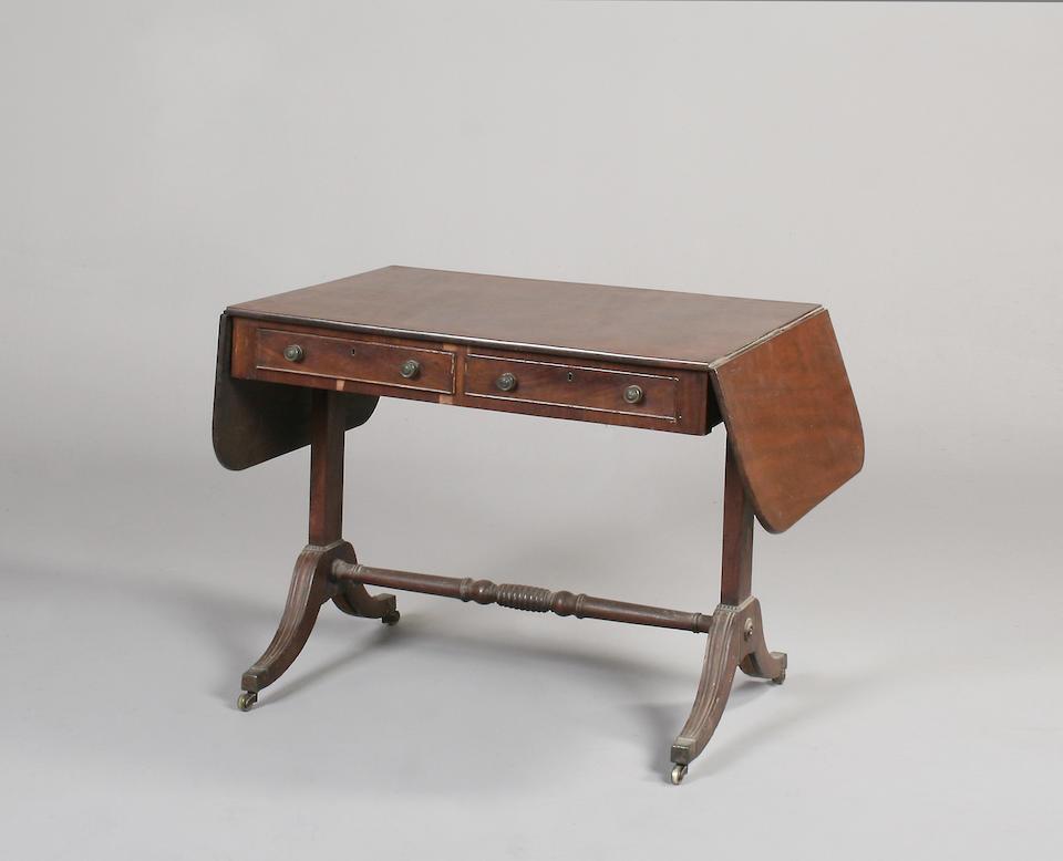 A 19th century mahogany sofa table