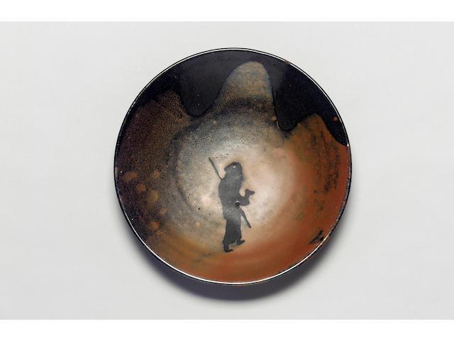 Bernard Leach a rare 'Pilgrim' Dish, circa 1968 Diameter 33cm (13in.)