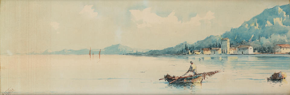 S** Villar (19th Century) Views of Corfu each 15 x 44.5 cm. (6 x 17 1/2 in.) (4)
