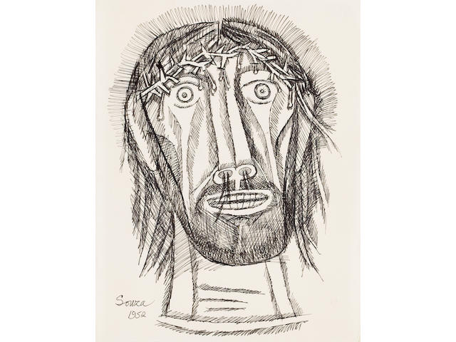 Francis Newton Souza (India, 1924-2002) Christ crowned with thorns