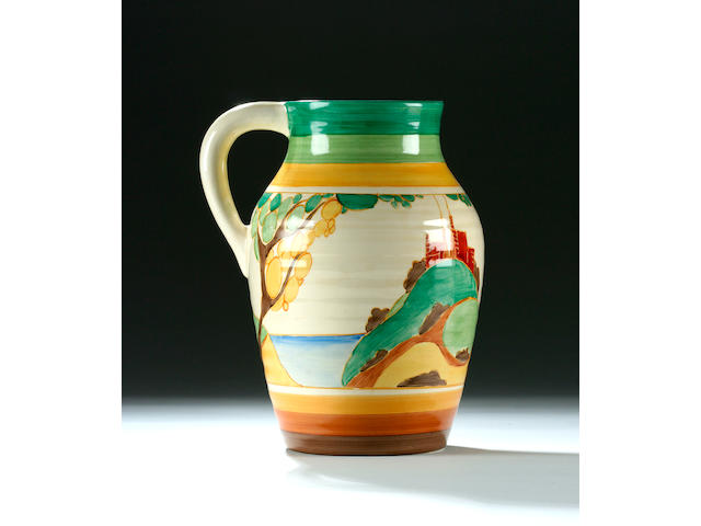 A Clarice Cliff 'Secrets' lotus jug