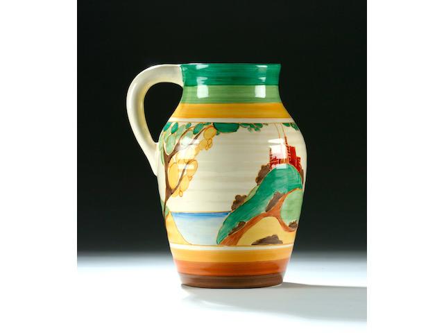 A Clarice Cliff 'Secrets' lotus jug