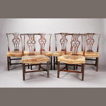 A set of six 19th century Chippendale style mahogany standard chairs