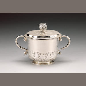 A Charles II cup and cover,