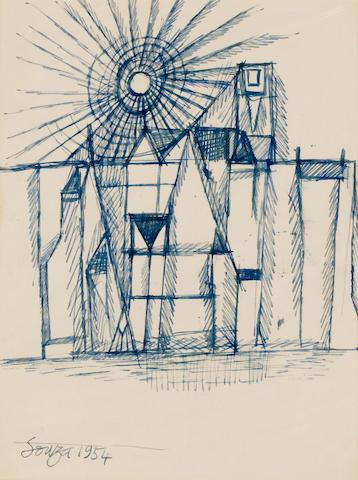 Francis Newton Souza (India, 1924-2002) Sunrise Townscape