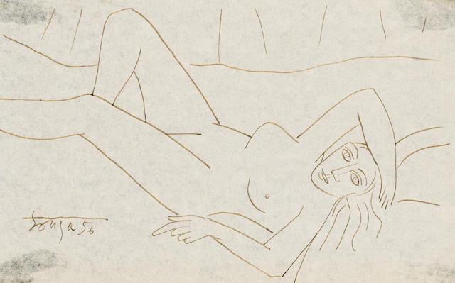 Francis Newton Souza (India, 1924-2002) Reclining female nude