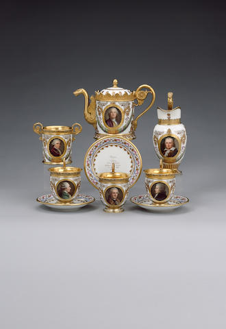 The important royal Sèvres Déjeuner des Musiciens célèbres, owned by King Louis Philippe dated 1820