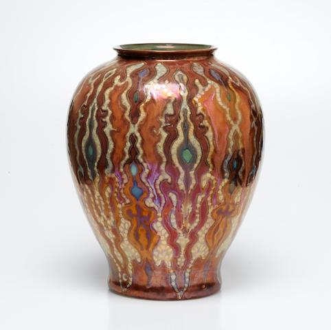 Gouda A Lustre Ware Vase, circa 1950