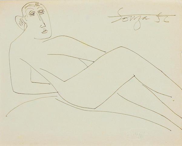 Francis Newton Souza (India, 1924-2002) Reclining Nude