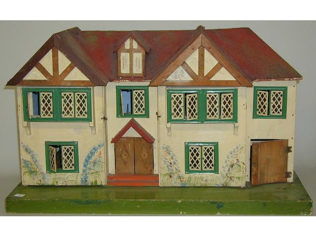 Triang wooden double fronted dolls house,