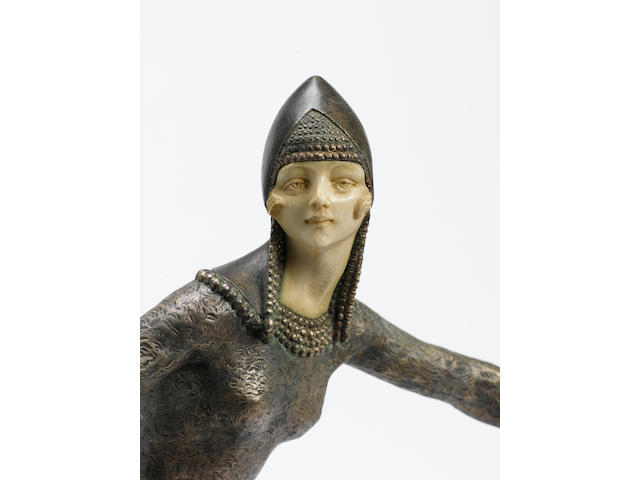 Demetre Chiparus  'Starlight' a Fine Patinated Bronze and Ivory Figure, circa 1925