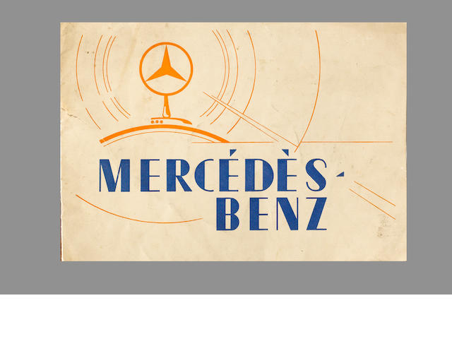 A Mercedes-Benz range catalogue for 1930,