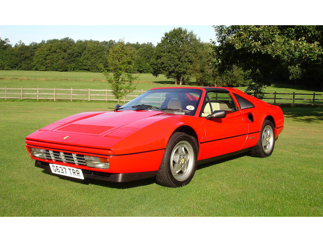 4,500 miles from new,1989 Ferrari 328GTS Targo Convertible Coupe  Chassis no. 81696 Engine no. 18127