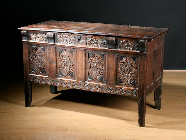 A late 17th Century oak coffer
