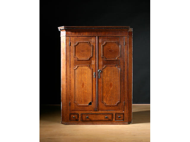 19th C Hanging Corner Cupboard
